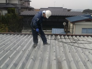 9.26屋根高圧洗浄