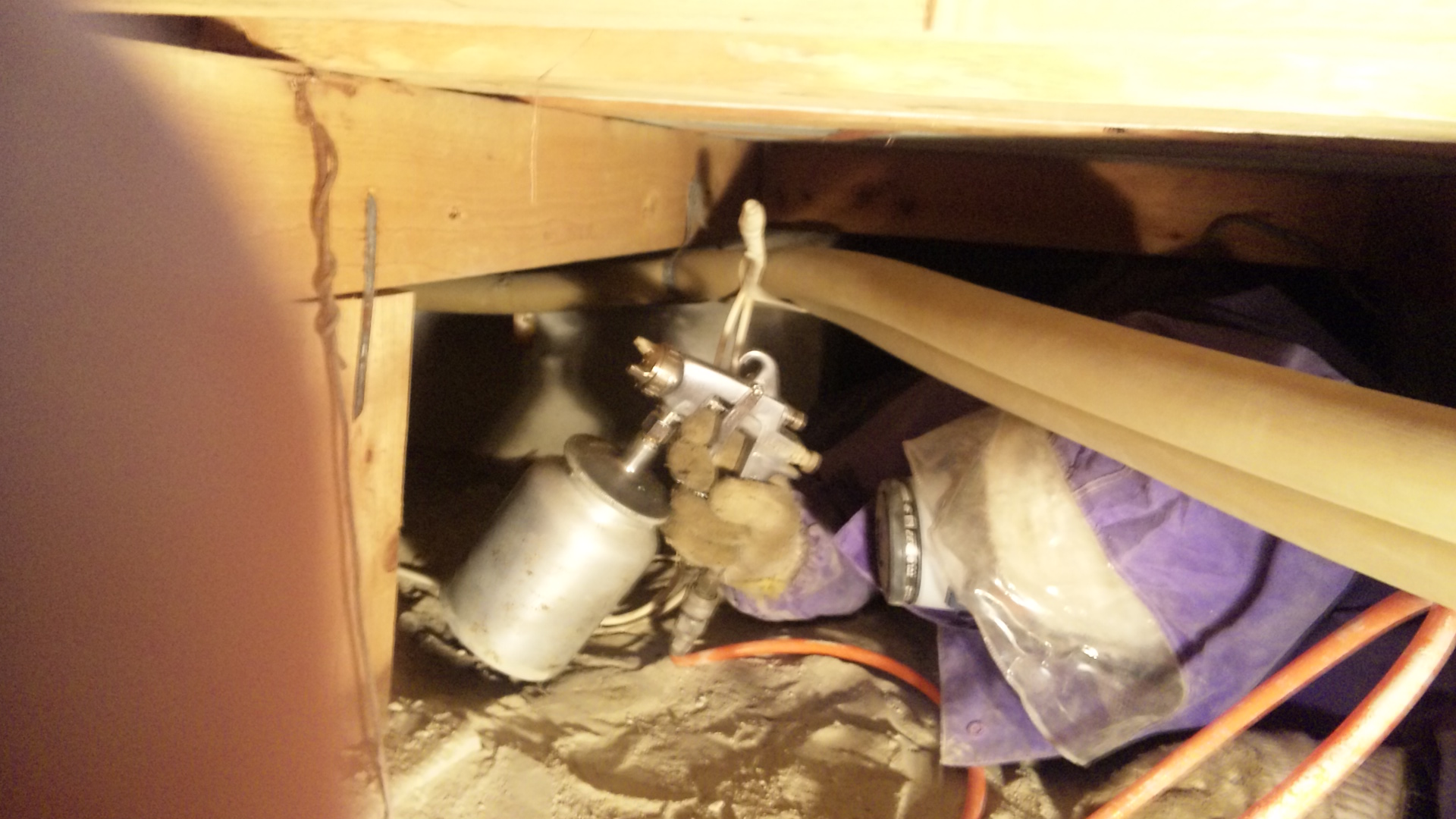 床下防蟻、防腐剤処理