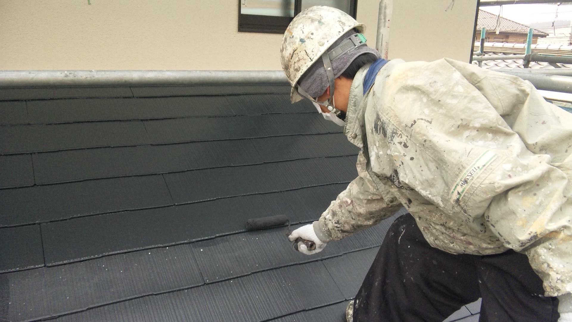 一階屋根上塗り2