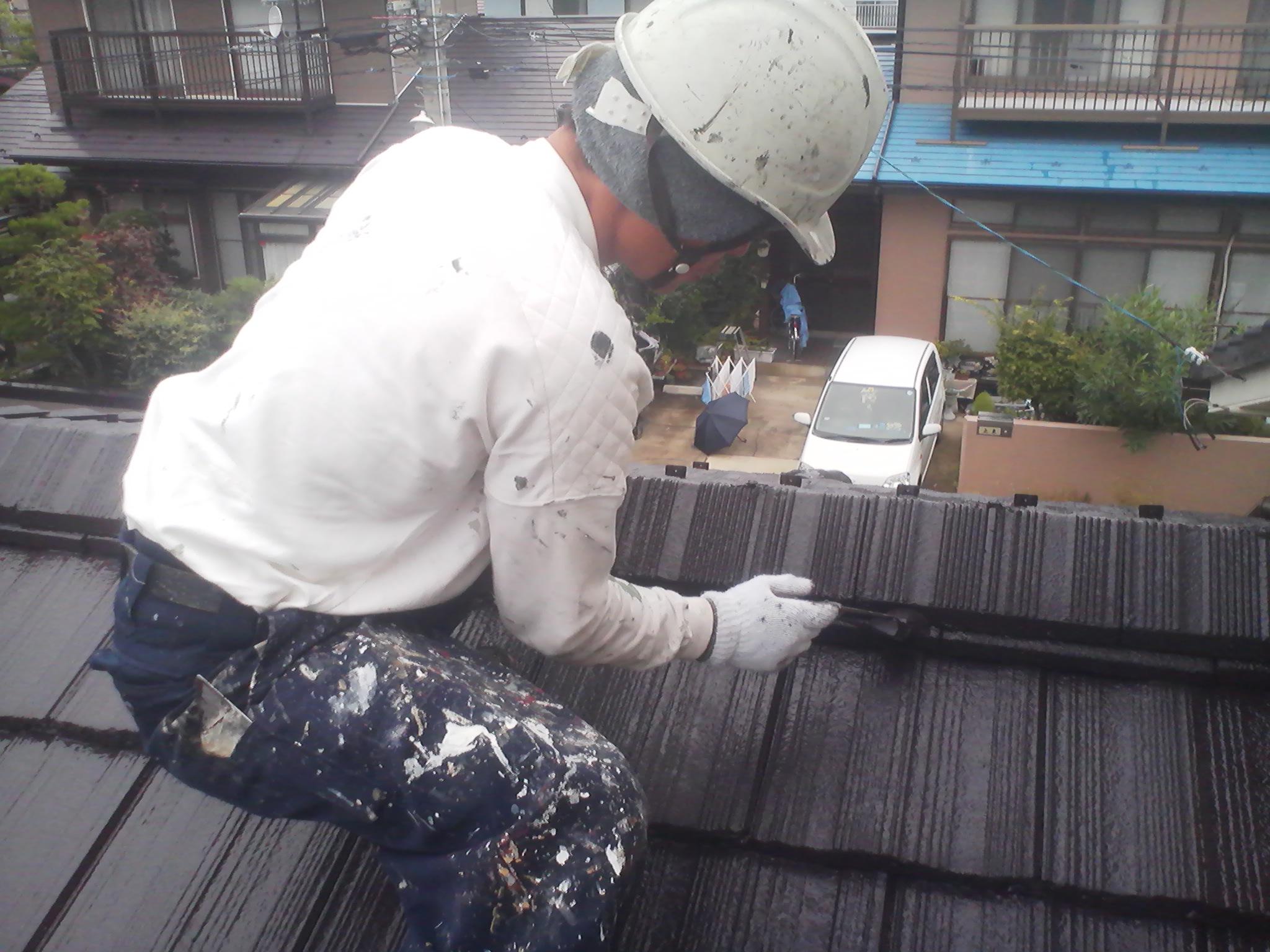 一階屋根塗装