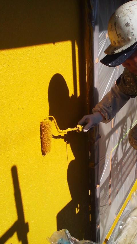 高森佐藤様外壁上塗り