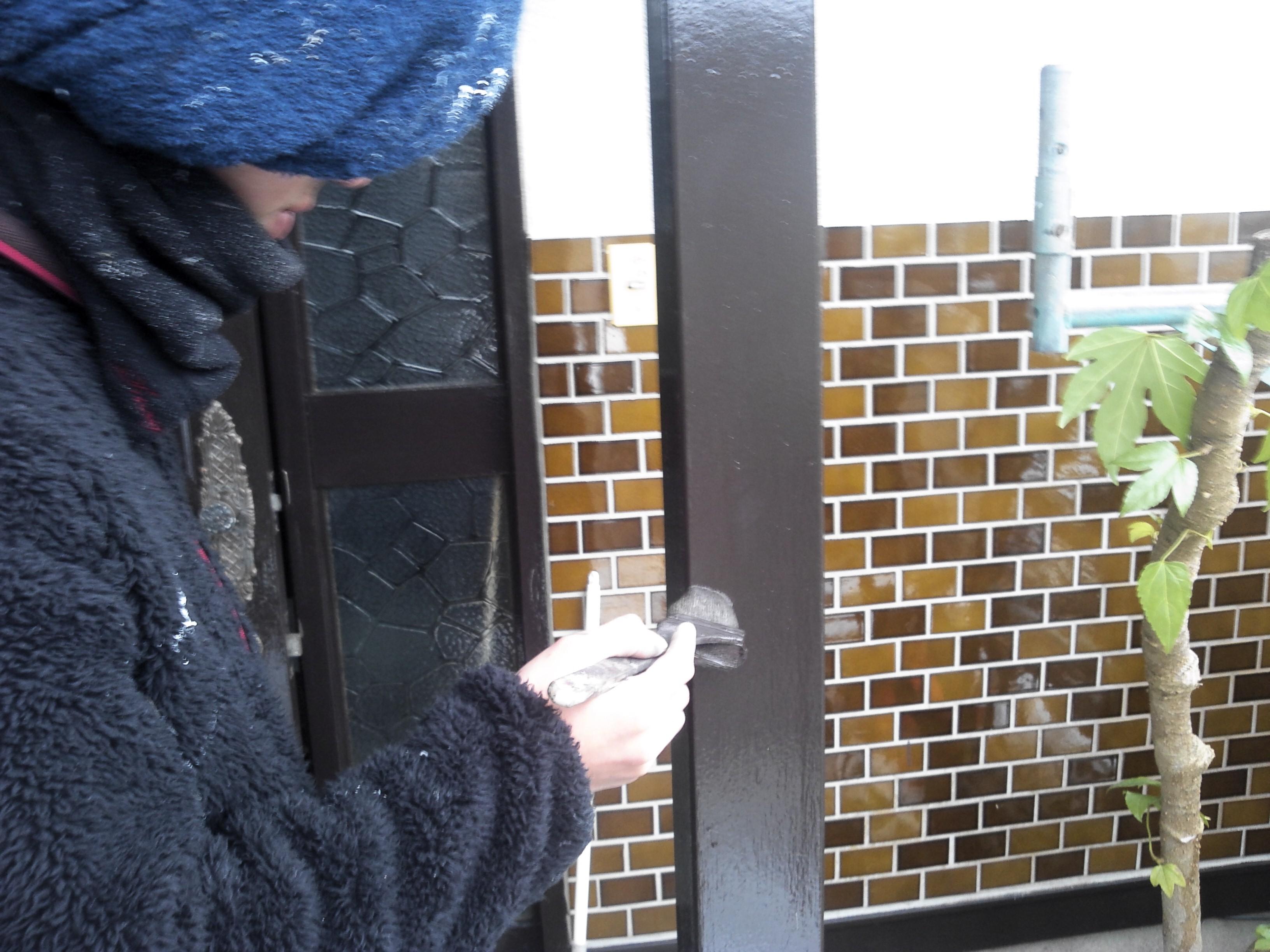 玄関木部上塗り0229
