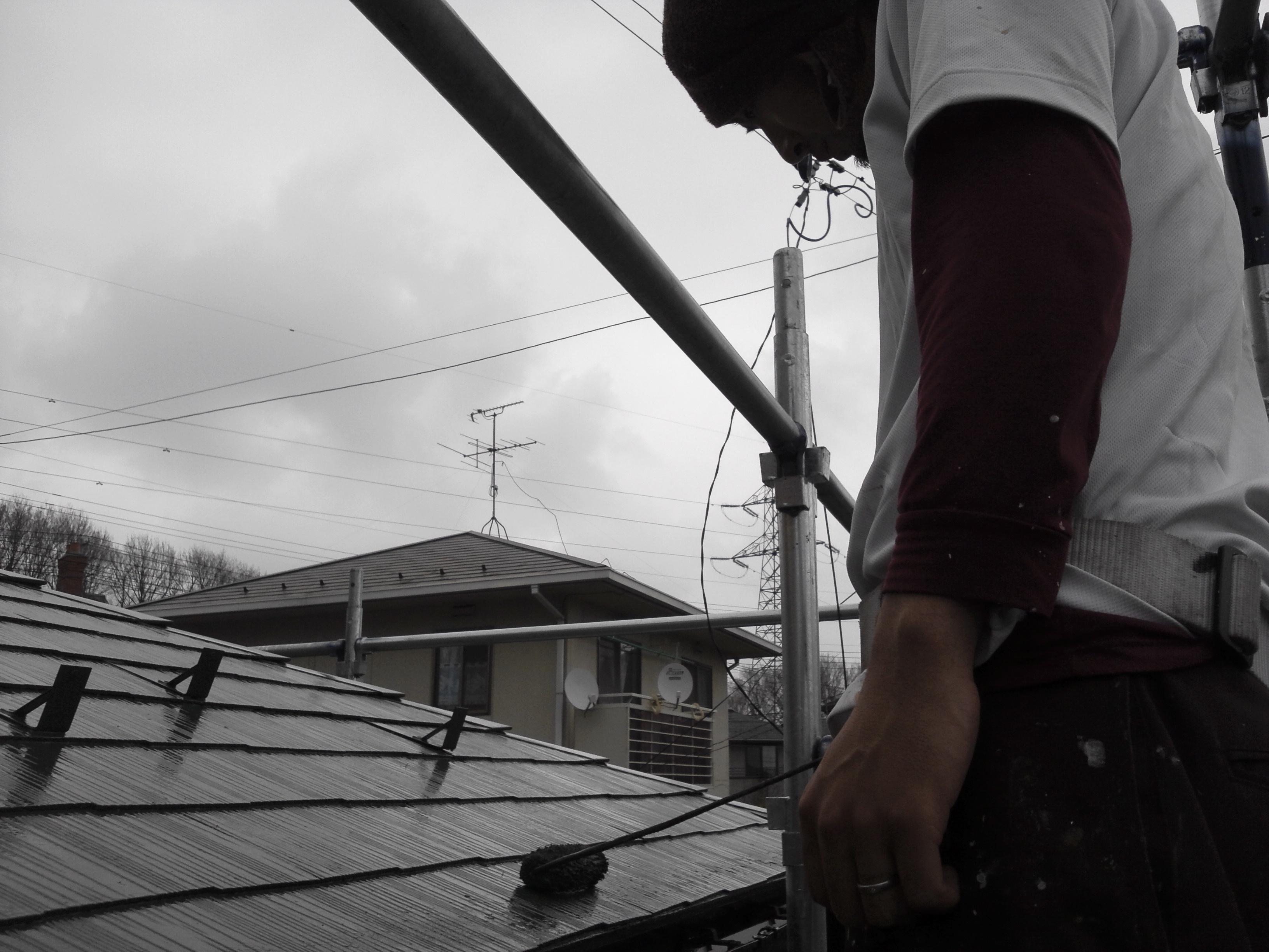 0425 屋根上塗り