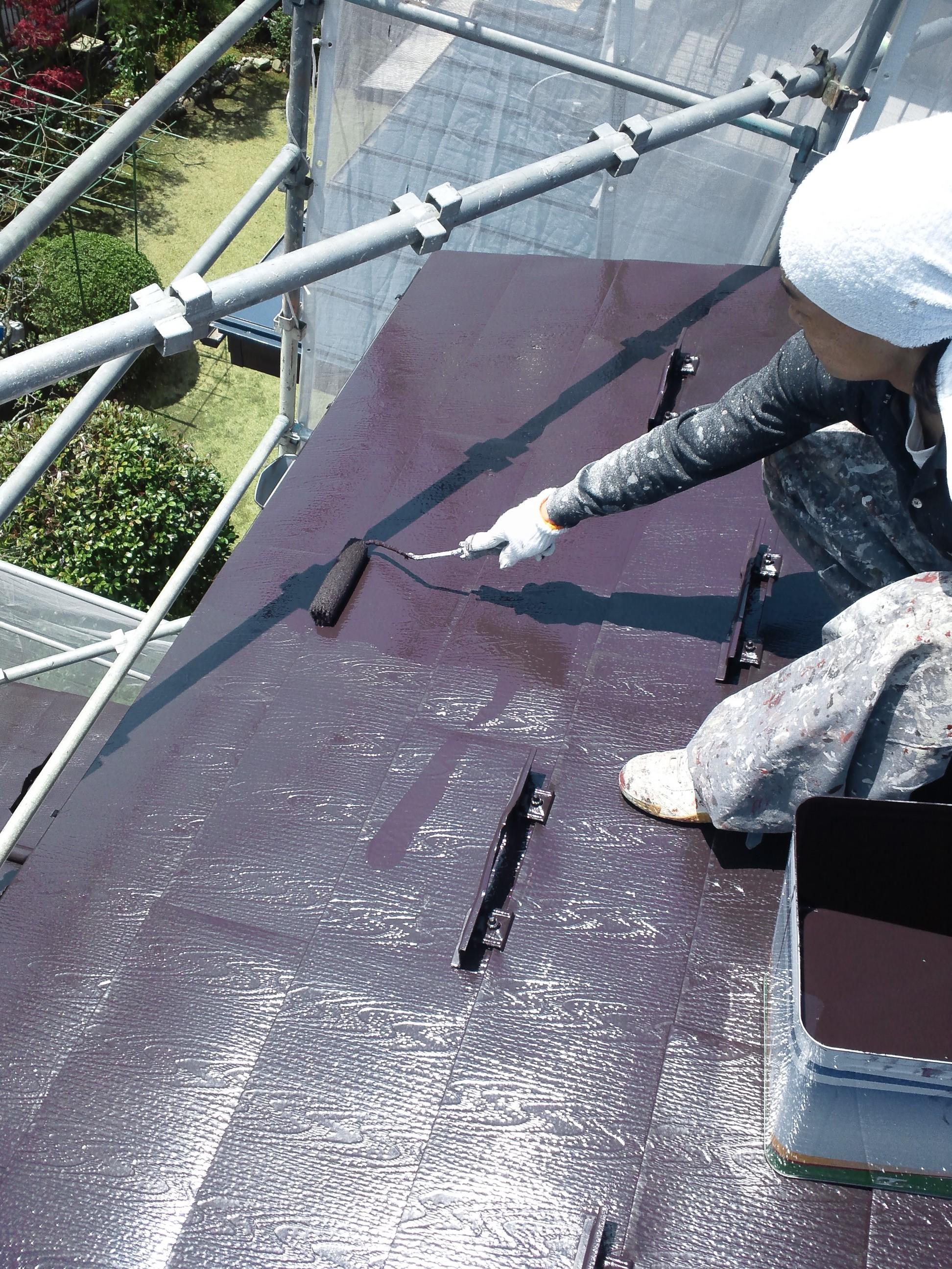 0428 屋根上塗り