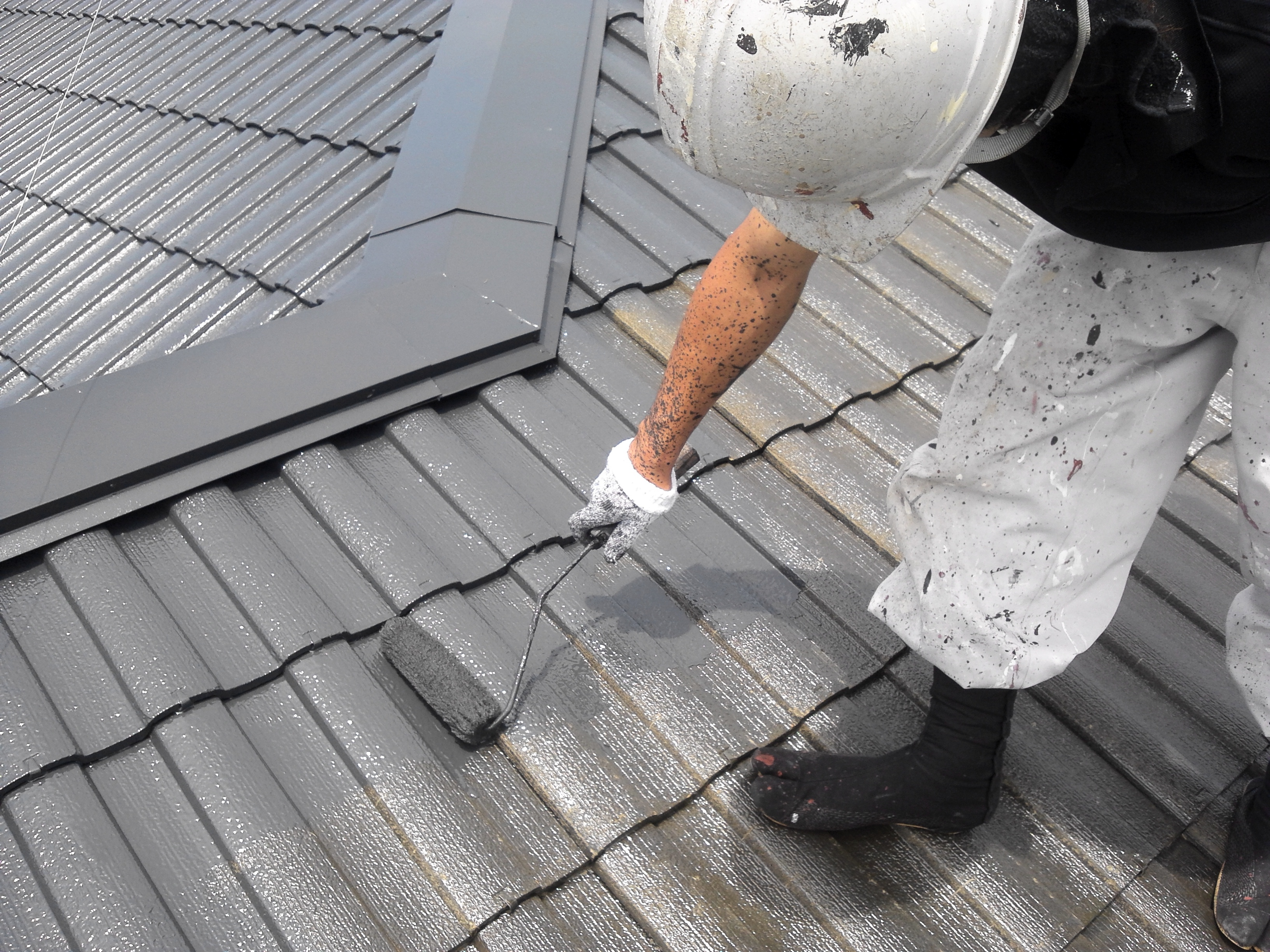 0526 屋根中塗り