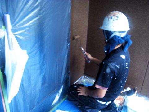 120930-一階壁上塗り