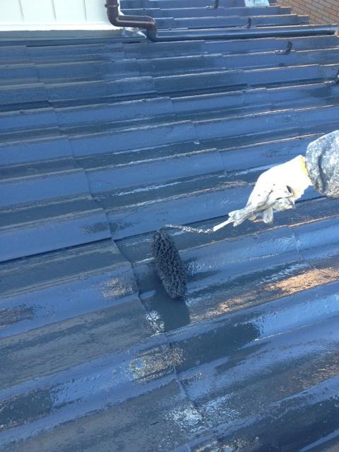130131屋根上塗り