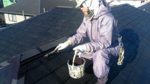 130131屋根中塗り