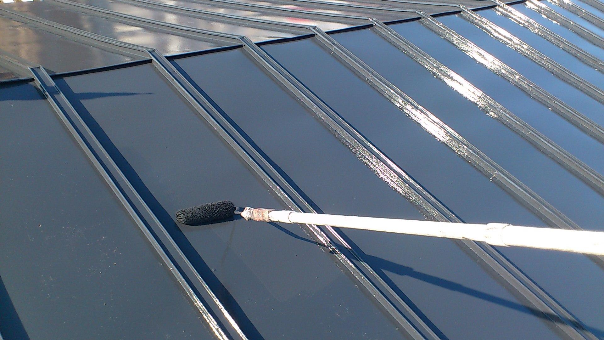 130228屋根上塗り