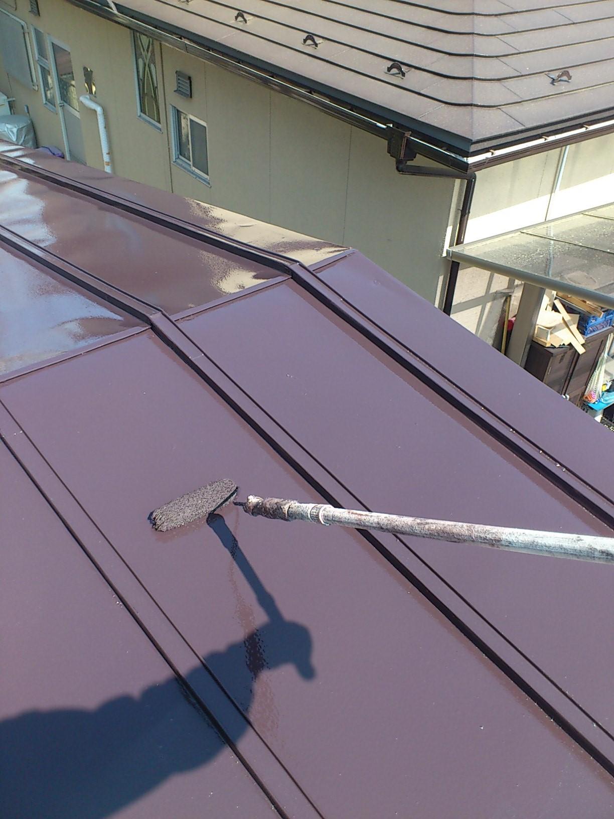 130328屋根上塗り