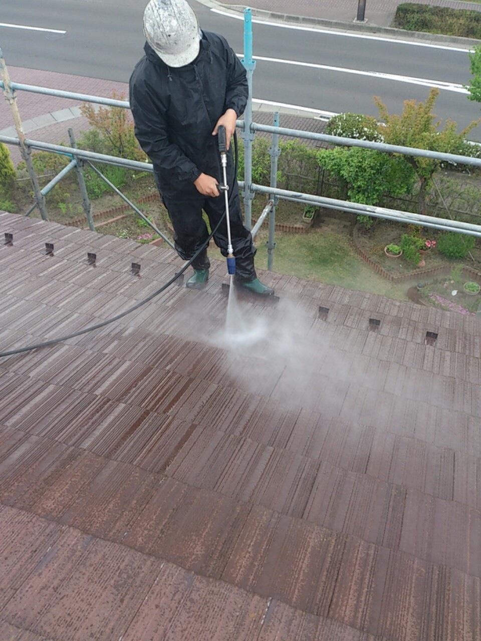 130530屋根洗浄