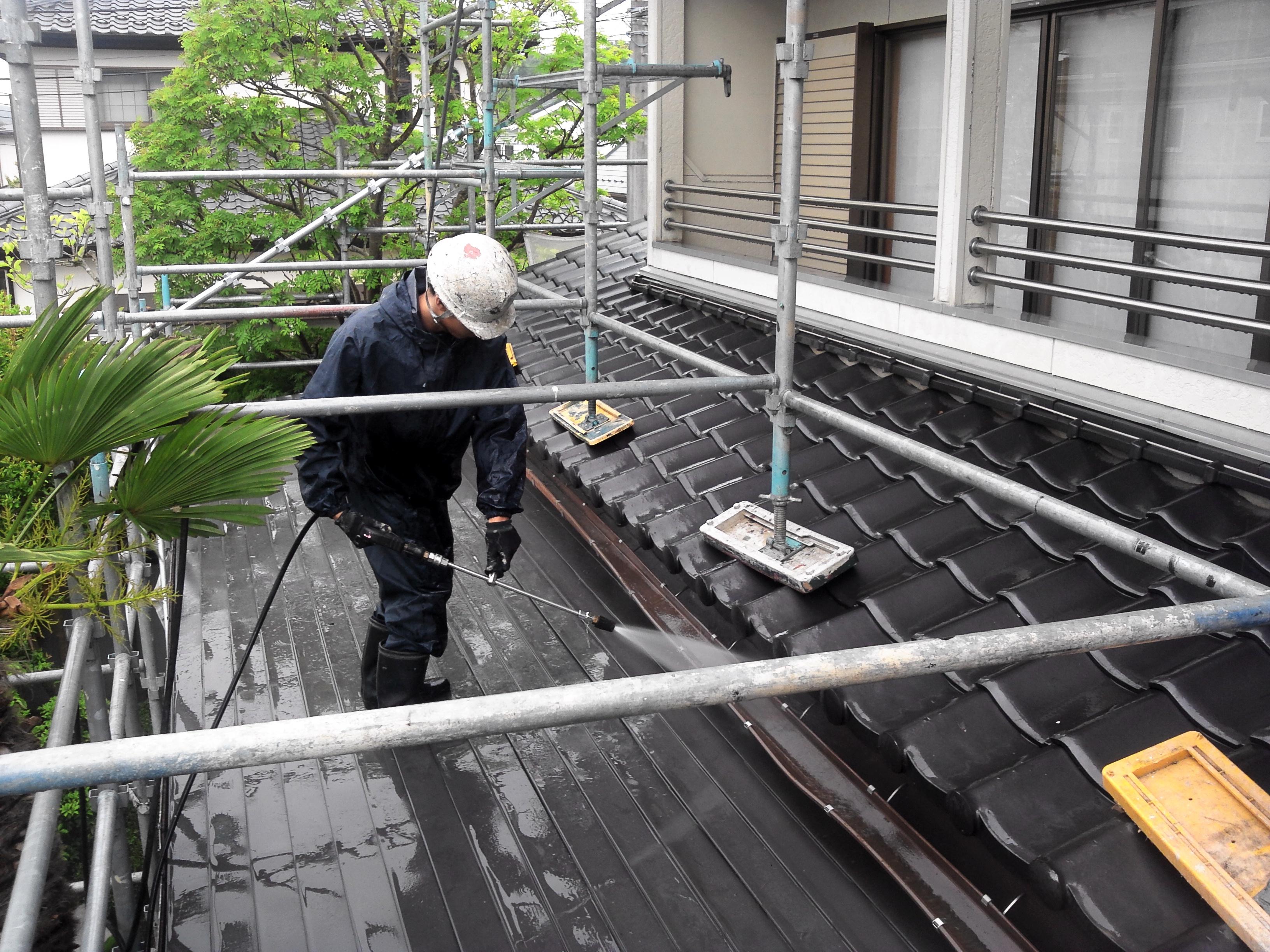 130628屋根洗浄