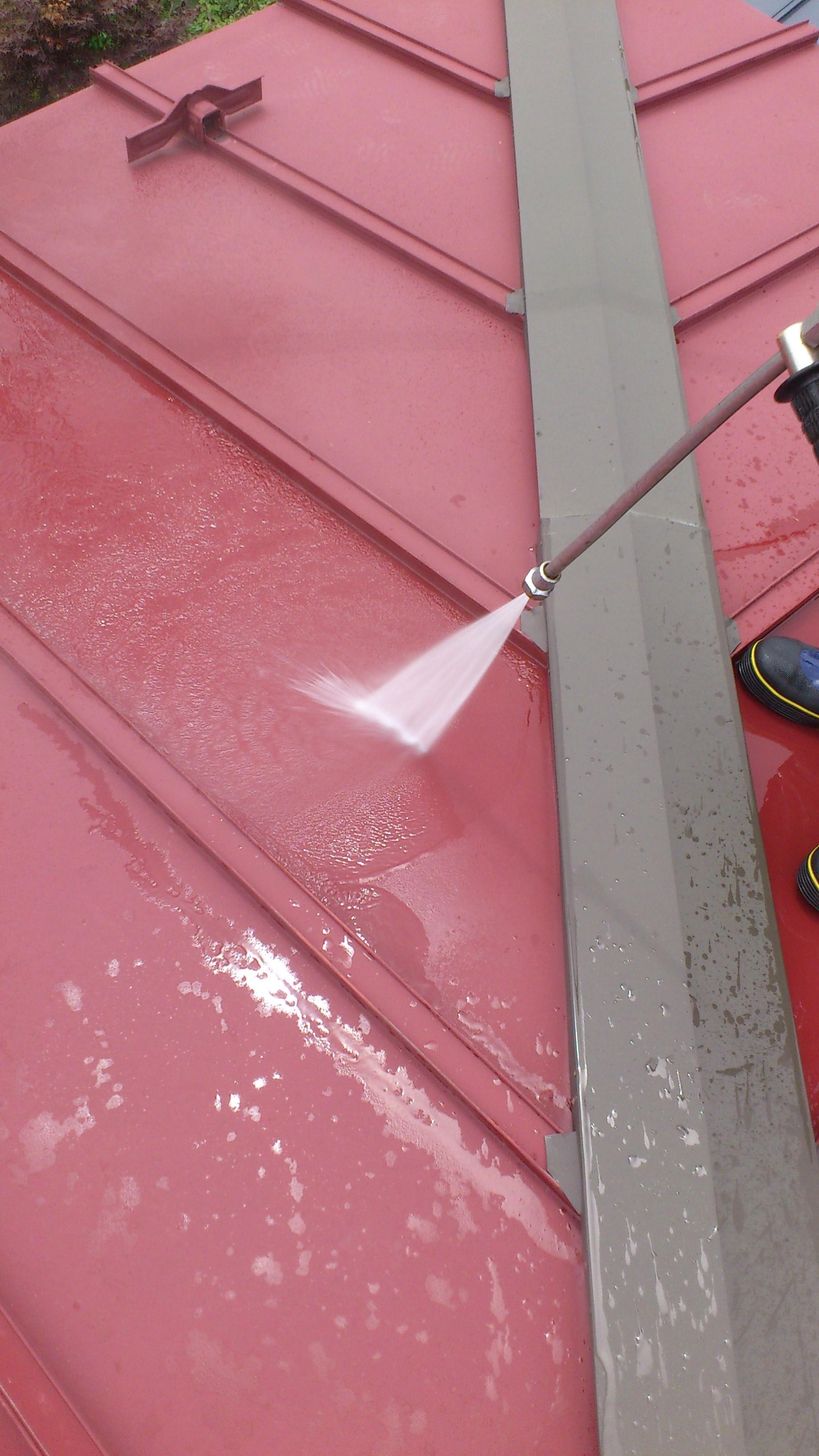 130831屋根洗浄②