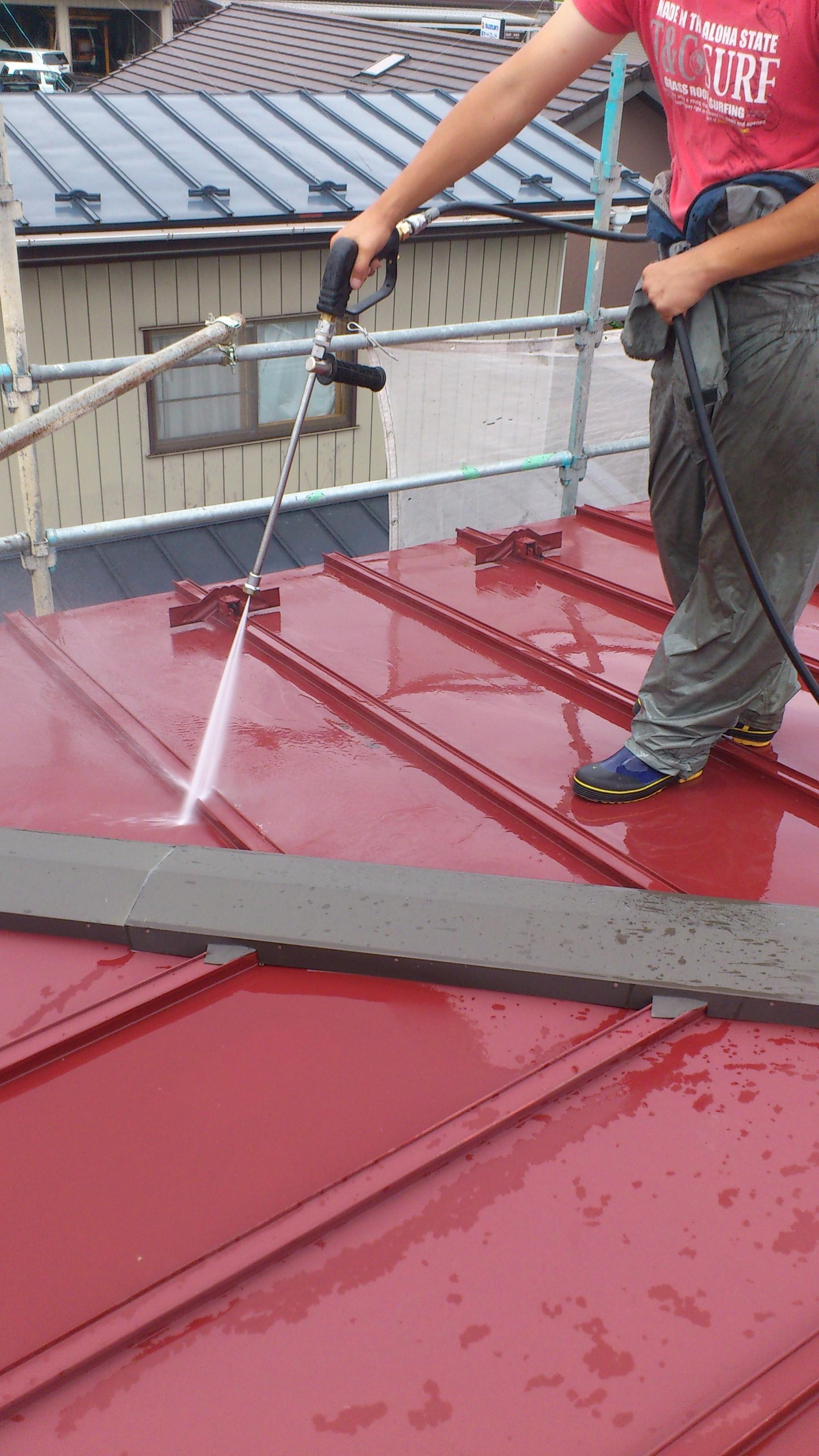130831屋根洗浄